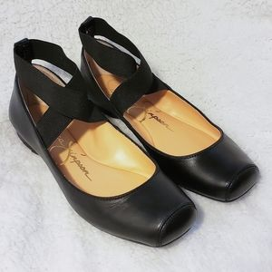 Jessica Simpson Black Mandalaye Ballet Flat 7.5M